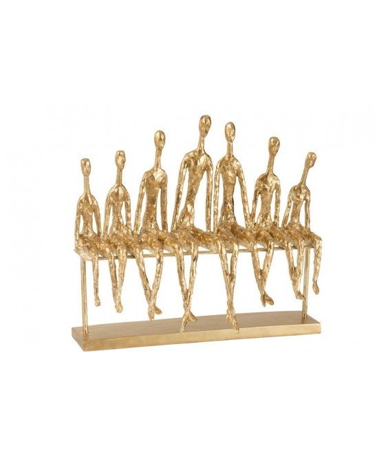 7 PERSONNES ASSISES + BANC RESINE OR
