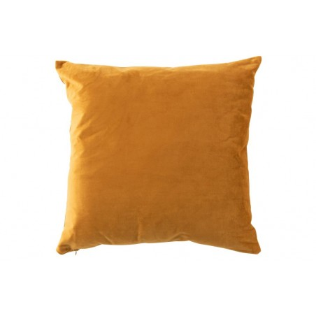 COUSSIN CARRE VELOURS OCRE/CAMEL