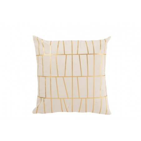 COUSSIN DESIGN POLYESTER BLANC/OR