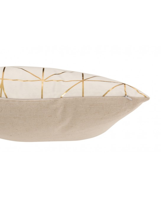 COUSSIN MOTIFS POLYESTER BLANC/OR