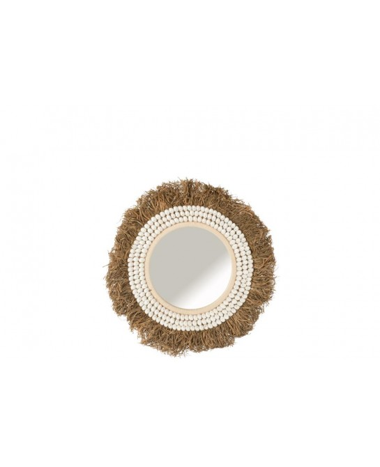 MIROIR ISABEL COQUILLAGES/RAPHIA SMALL