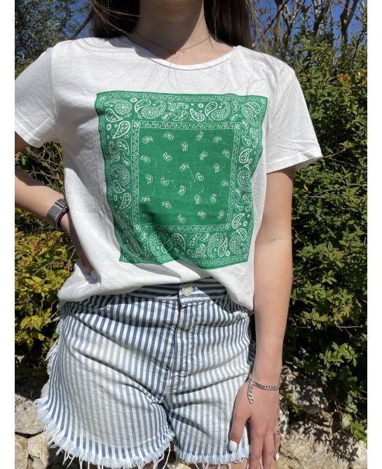 T-Shirt Bandana Vert Banditas
