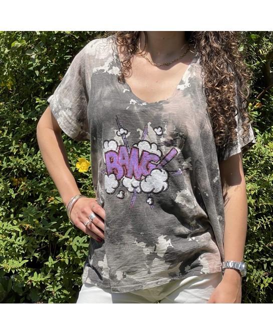 T-Shirt Bang Gris Banditas-MerciCheri