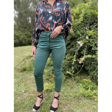 Pantalon Melinda Vert Emeraude - Banditas-MerciCheri